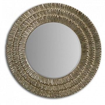 Espejo redondo plata champagne