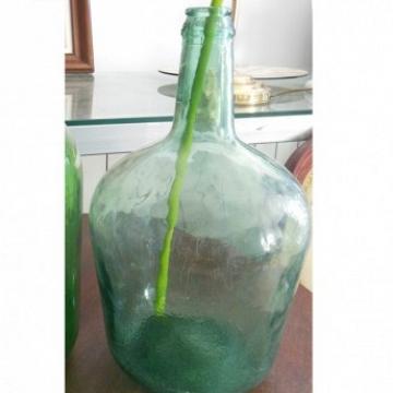 Damajuana verde antigua 30x21 cm
