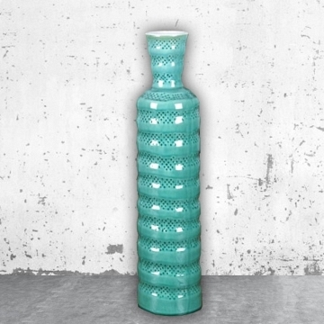 Jarron ceramica color verde 49x12 cm