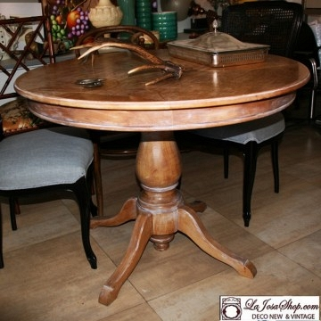 Mesa redonda extensible vintage