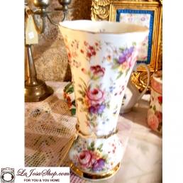 Jarrón Porcelana Inglesa flores