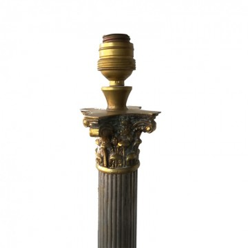 French Neoclassical Greek column table lamp