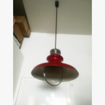 Red vintage ceiling lamp Plate shape, Extensible