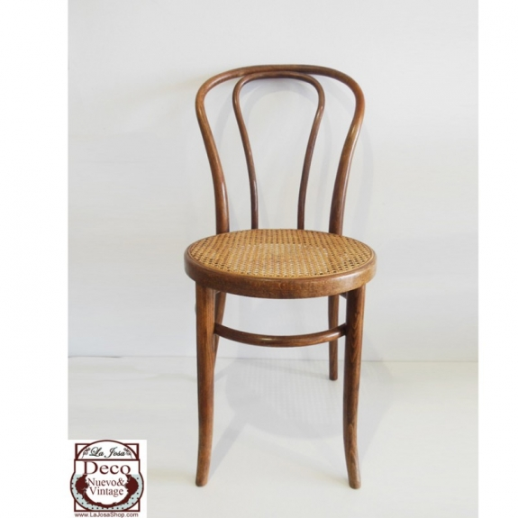 Silla Thonet N18 estilo color roble vintage