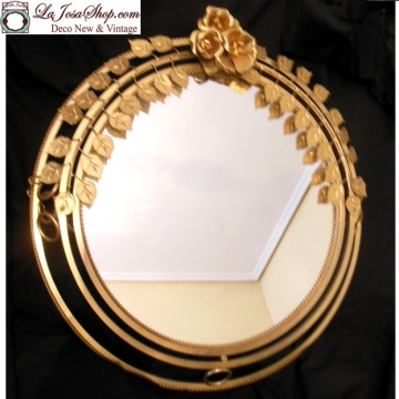 Espejo dorado vintage