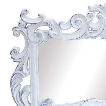 Espejo barroco horizontal blanco