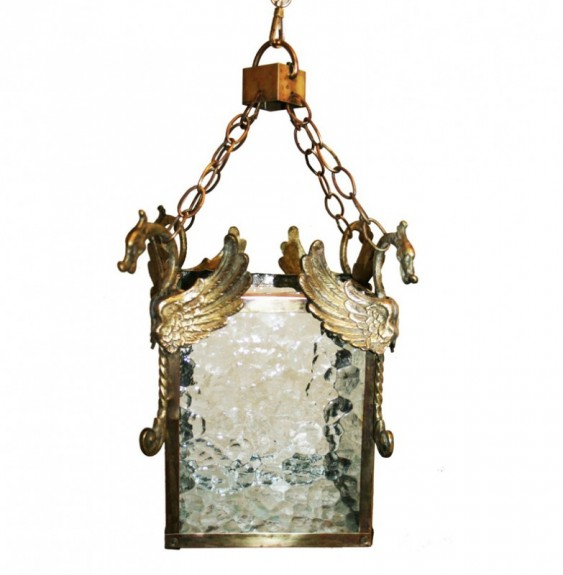 Brass Lantern  Hollywood Regency From Spain 70s