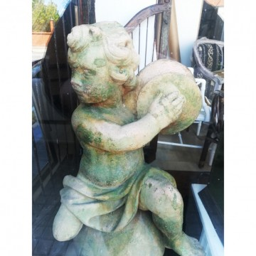 French terracotta putto 100 cm