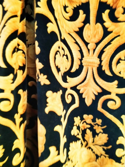 French Baroque Silk Fabric or Curtain