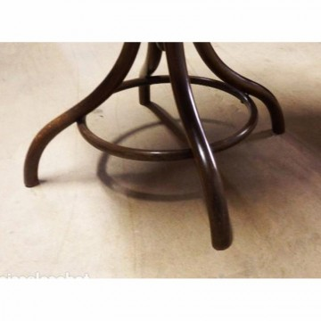 Antique Bentwood Bistro or Side Table from Fischel