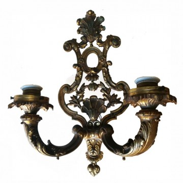 Pair of French Bronze sconces 20th Century Empire Style