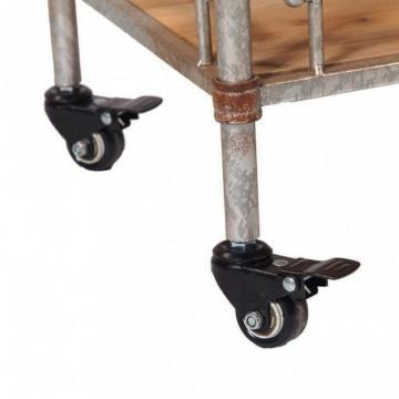Estantería estilo industrial  con ruedas