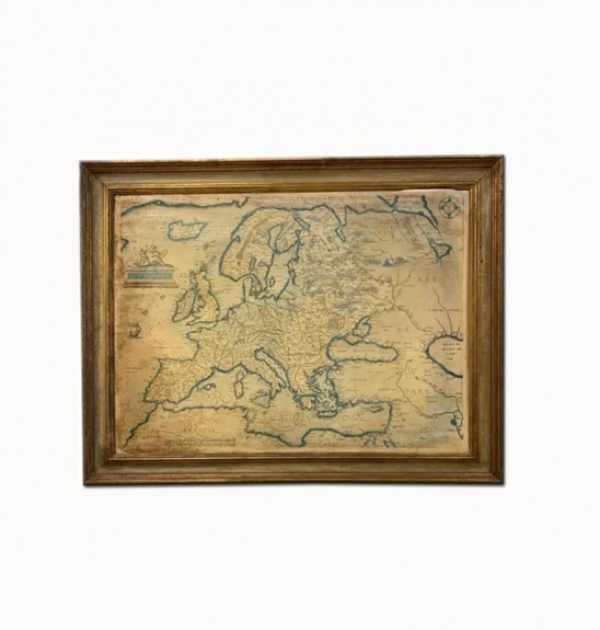 Antique Map of Europe Framed
