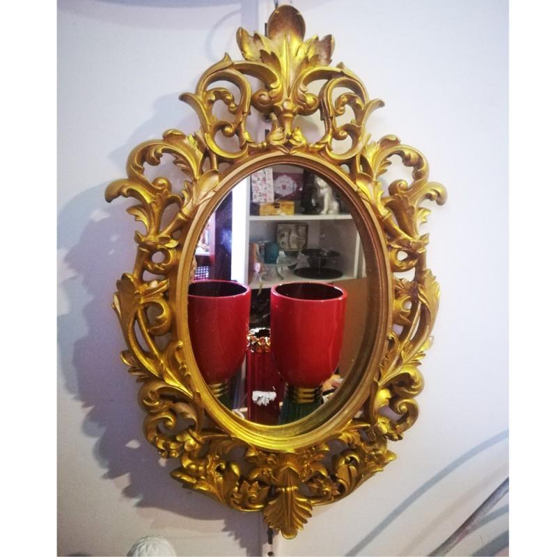 Espejo dorado barroco for Espejo dorado