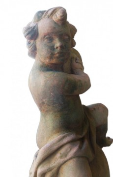 Putto terracota jardin