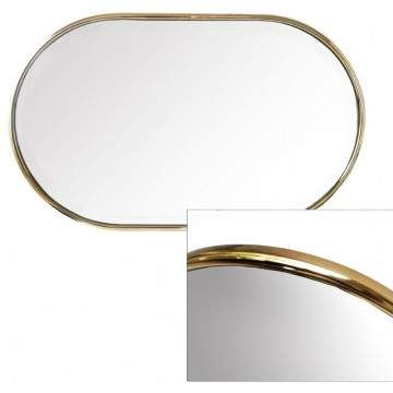 Vintage Spanish beveled minimalist golden aluminum mirror